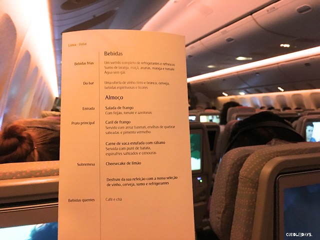 EMIRATES MENU