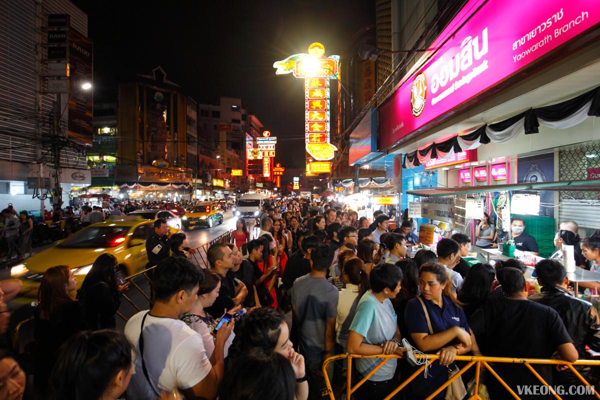 Tasty Toast Stall Bangkok Chinatown Crowd