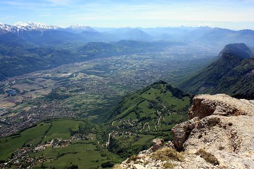 La vallée du Grésivaudan depuis le sommet