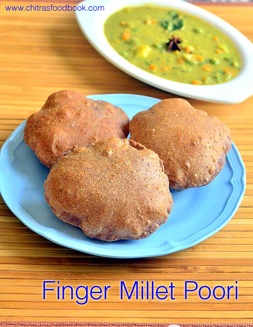Finger millet poori