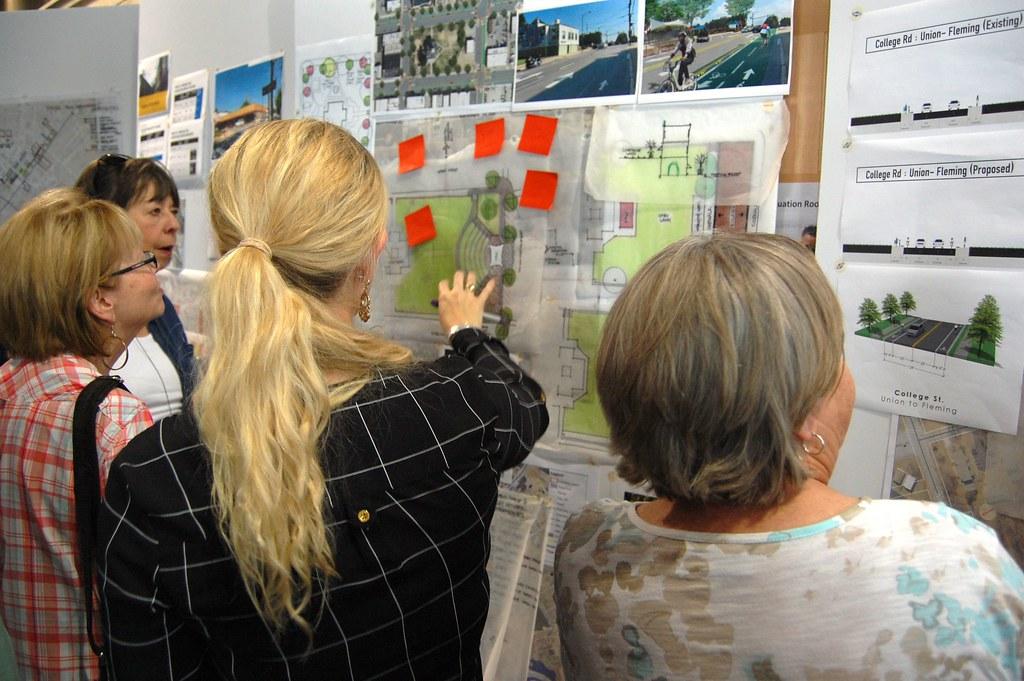People look at ideas at Morganton on Tap
