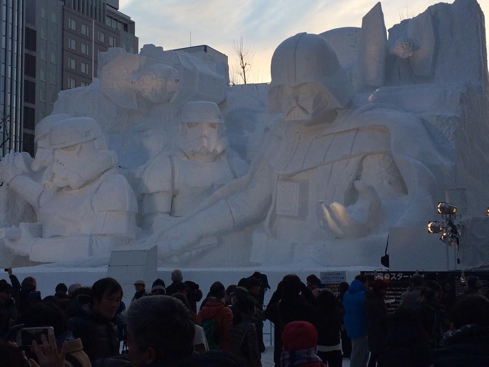 Esculturas de nieve Sapporo Star Wars