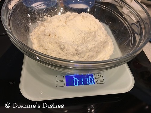 Strawberry Choux Cake: Weighing Flour | by Dianne's Dishes