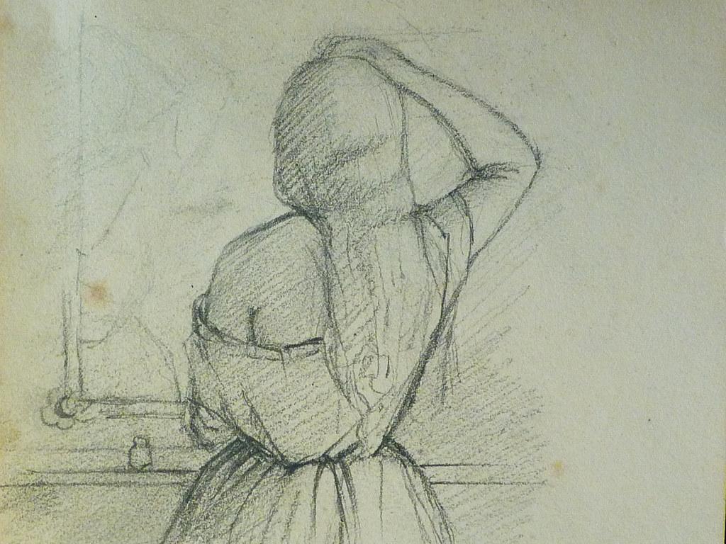 Courbet Gustave Jeune Femme Debout De Dos Devant Un M Flickr