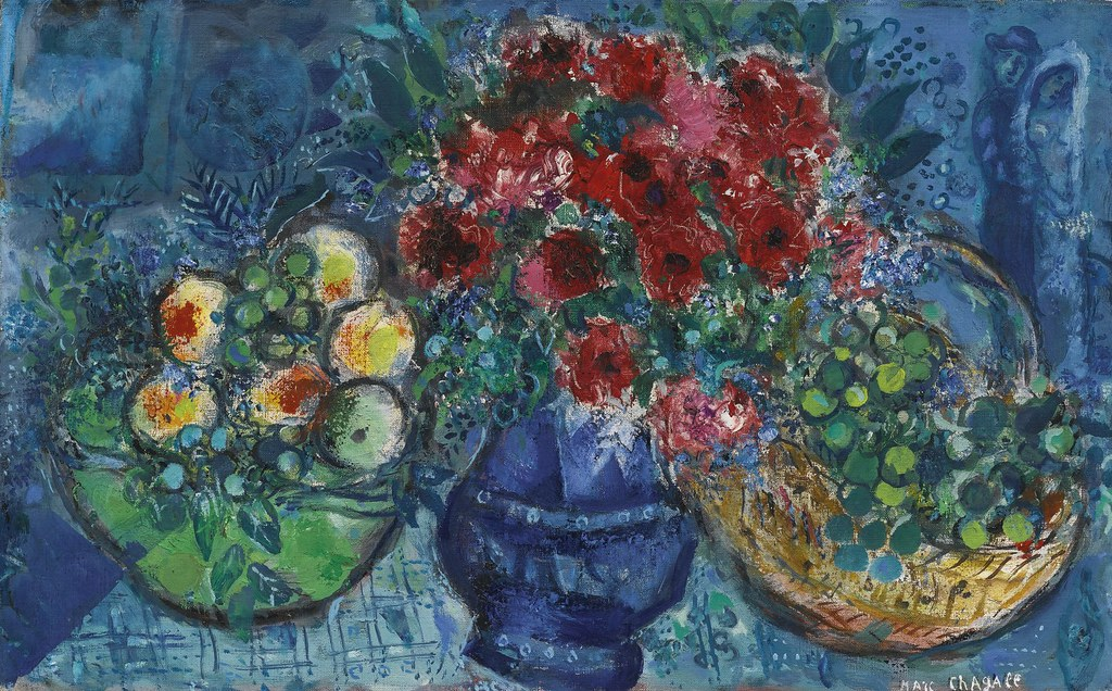 marc chagall blue vase with two baskets of fruit le vas flickr. Black Bedroom Furniture Sets. Home Design Ideas