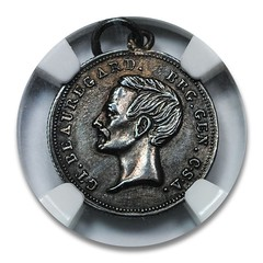 1861 Beauregard Confederate Dime obverse