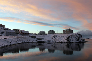 Magical colours reflecting on the water at Stykkishólmur Village in the afternoon | by saraflossy