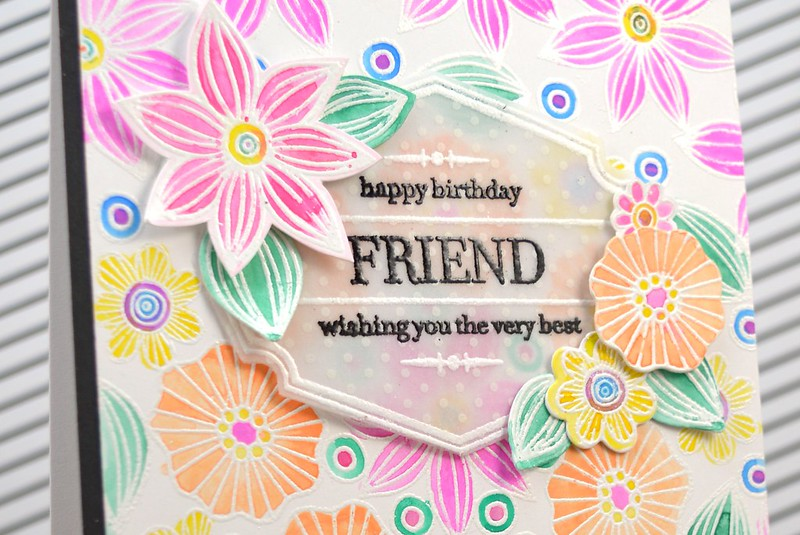 Jen Carter Doodle Daisies Vintage Friend Birthday 1 closeup