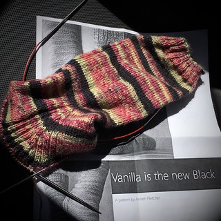 Vanilla is the New Black (sock progress) | by ca.bookwyrm