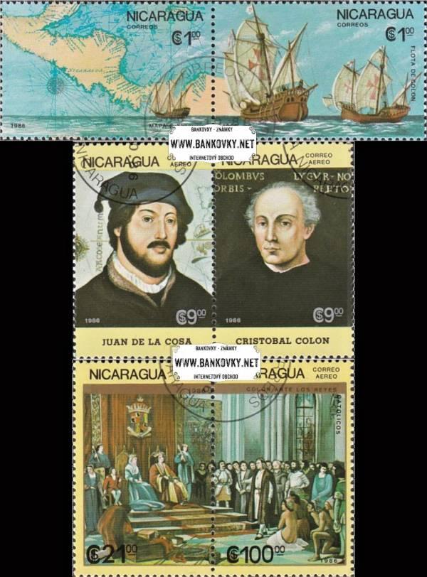 Známky Nikaragua 1986 Objavenie Ameriky, razítkovaná séria
