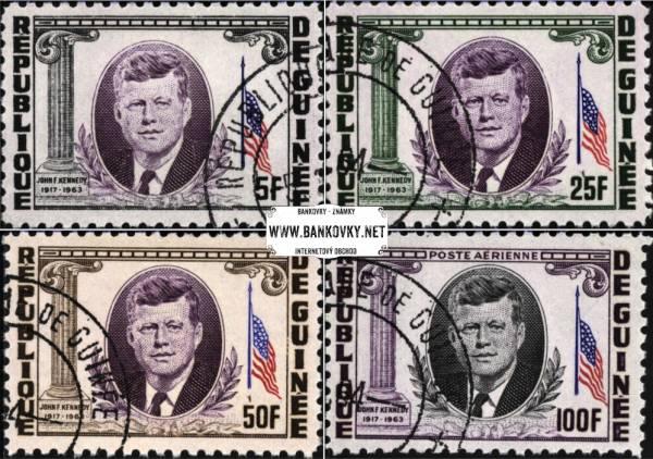 Známky Guinea 1964 John F. Kennedy, razítkovaná séria