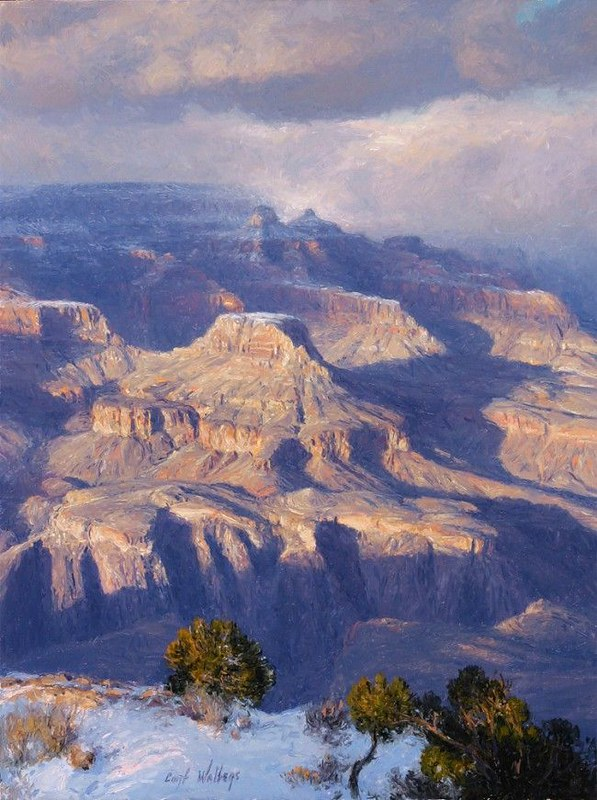Snow Flurries Over the Rim by Curt Walters