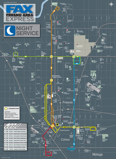 FAX night map