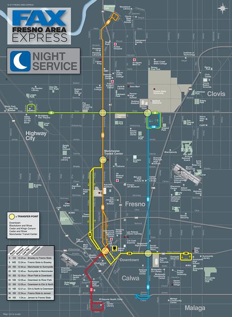 FAX night map