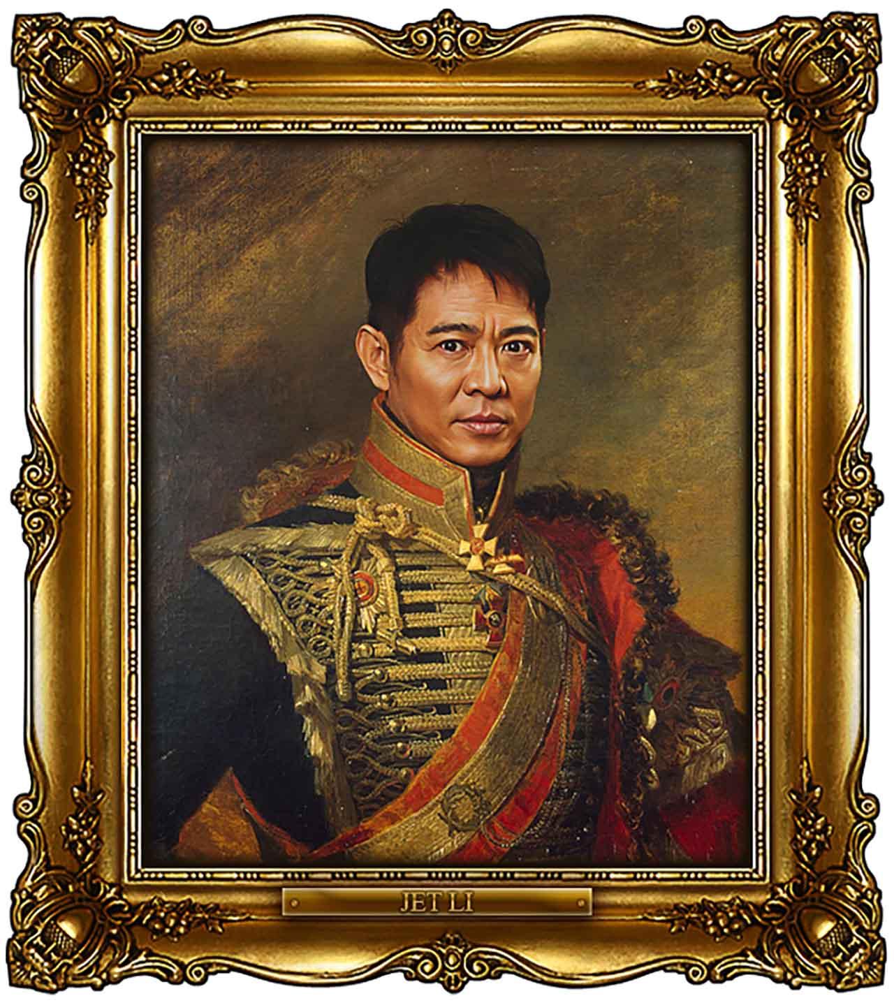 Artist Turns Famous Actors Into Russian Generals - Jet Li