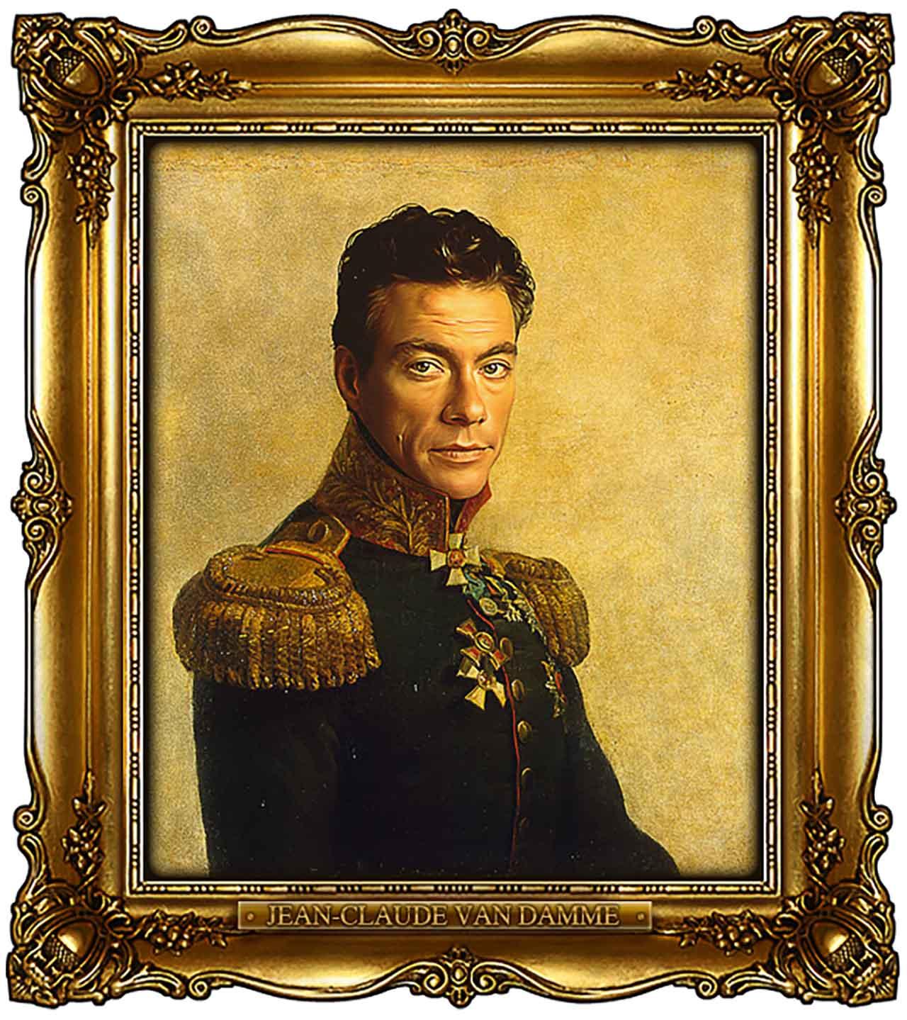 Artist Turns Famous Actors Into Russian Generals - Jean-Claude Van Damme