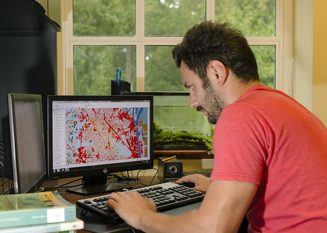 Enis Baltaci uses geospatial technology to map land use/cover.