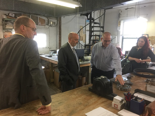 Mayor Madden visit to Bearing Distributors