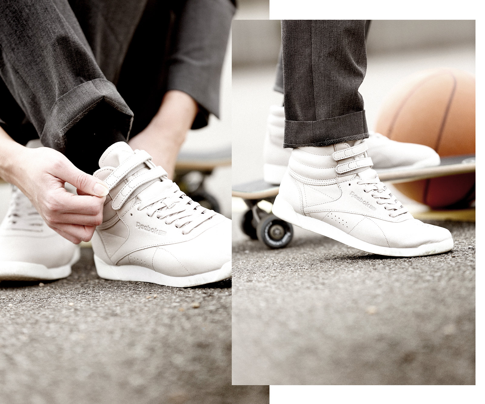 outfit reebok classics face stockholm sneakers hi rise basketball sports skateboard grey suit outfit business casual sporty look lookbook magentaskateboards titus düsseldorf ricarda schernus modeblogger nrw photography playground 1