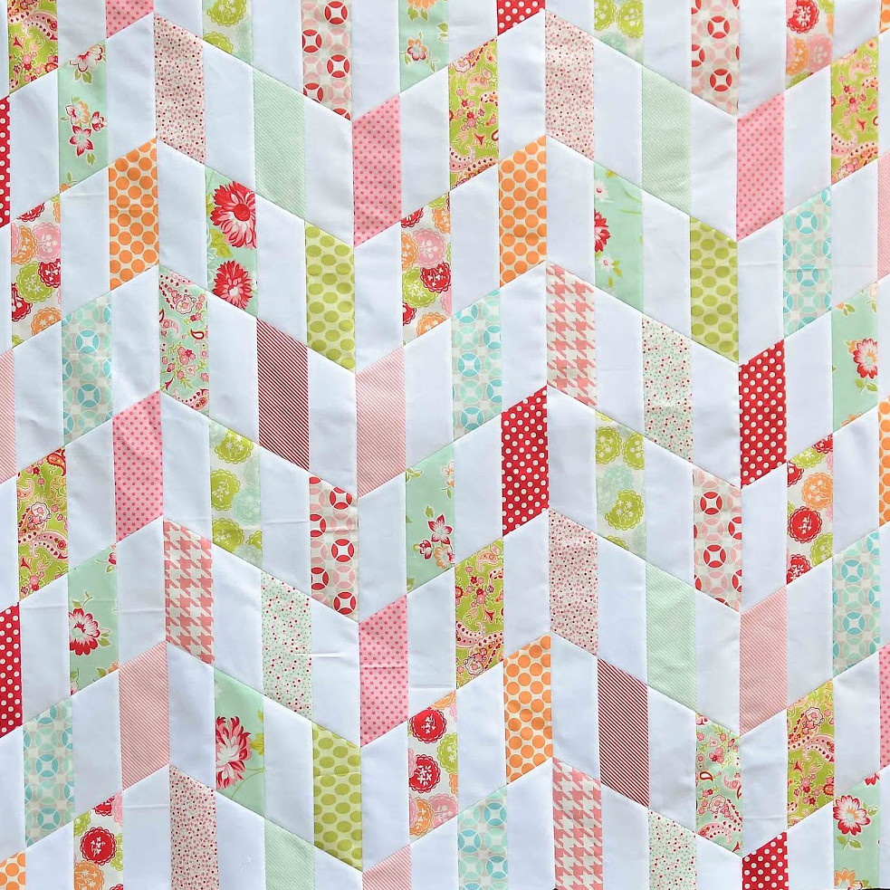 Striped Chevrons Quilt Tutorial