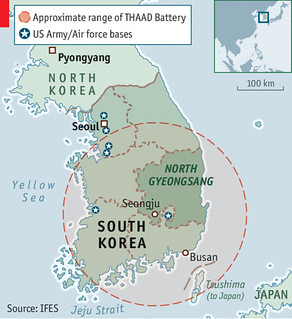 Location of THAAD. From economist.com