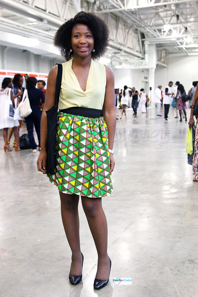 chitenge-skater-skirt,Kitenge skirt,ankara skirt, African print skirt,  green and yellow triangle pattern stripes A-line mini skirt, yellow plunging neckline chiffon top, chiffon top, yellow chiffon top, A-line mini skirt, ankara A-line mini skirt