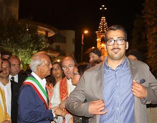 Fabio Topputi, l'ex sindaco Resta e altri durante il Sant'Oronzo 2013
