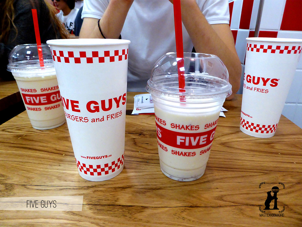 Batidos Five Guys Madrid