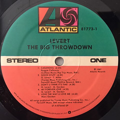 LEVERT:THE BIG THROWDOWN(LABEL SIDE-A)