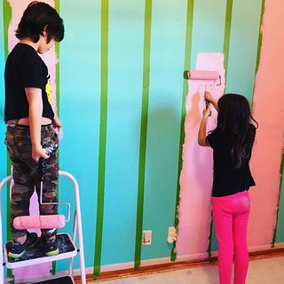 Maddie's Room! Time to paint some stripes. #James #Maddie #newhouse | by edmelendez