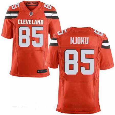 497394126 ... Men's 2017 NFL Draft Cleveland Browns #85 David Njoku Orange Alternate  Stitched NFL Nike Elite