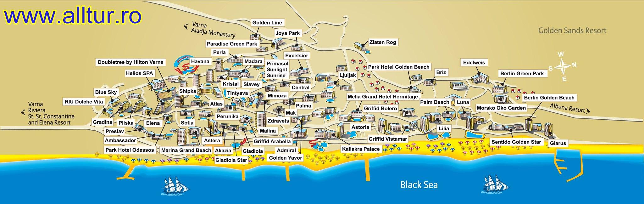Harta Nisipurile de Aur