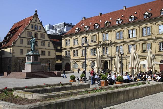 Stuttgart city center Schillerplatz