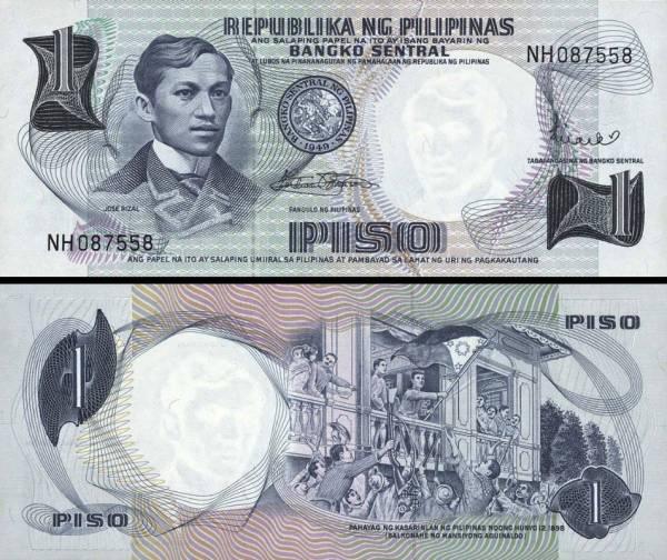 1 Peso Filipíny 1969, P142b