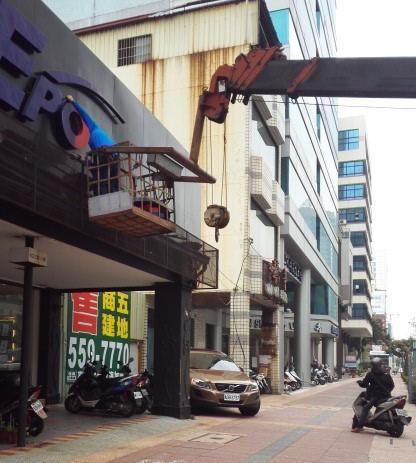 台湾の危険な歩道