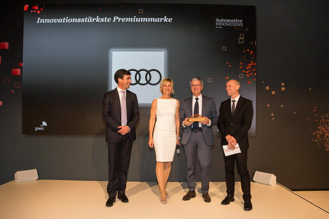 Audi the most innovative brand in the  Automotive Innovations Award 2017