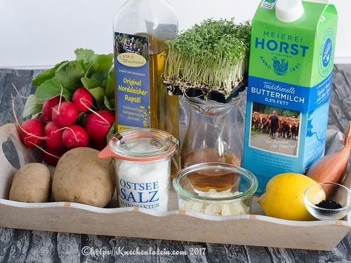 Radieschen-Buttermilch-Suppe - Zutaten