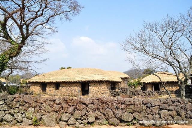 Seongeup Folk Village in Jeju Island