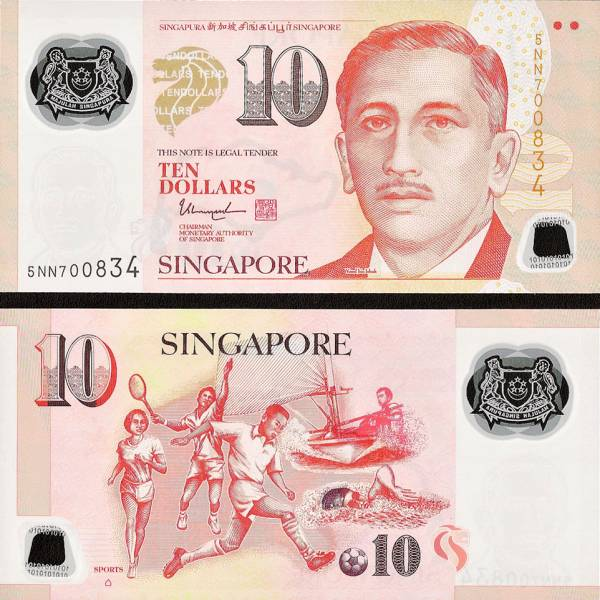 10 Dolárov Singapúr 2004-2014), polymer P58