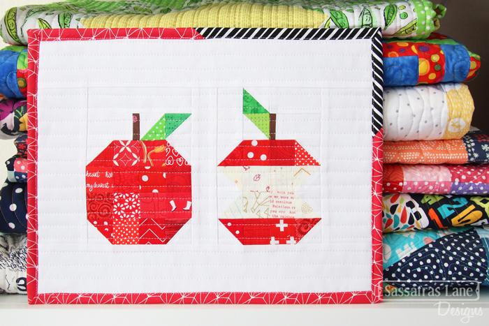 Patchwork Apple Mini Quilt