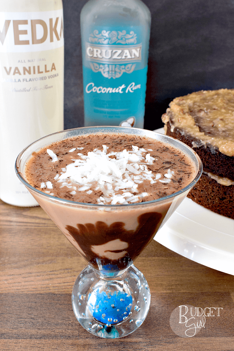 German Chocolate Cake Dessert Martini