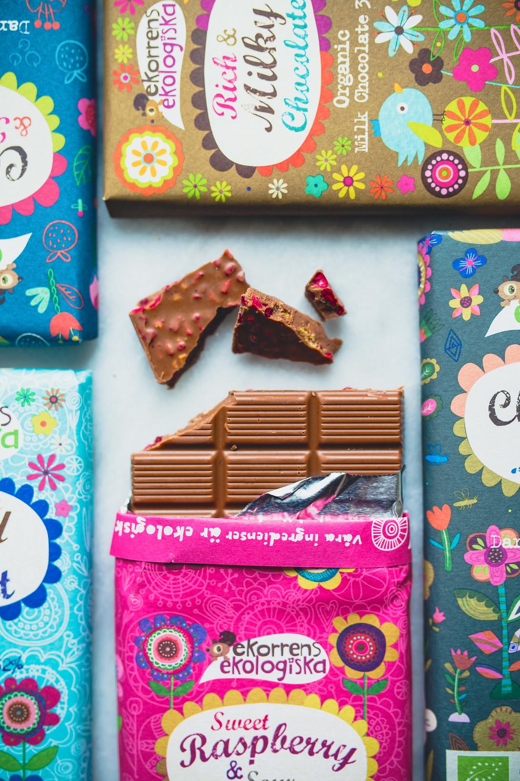 Ekologisk choklad med hallon och citron