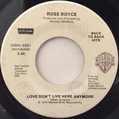 ROSE ROYCE:WISHING ON A STAR(LABEL SIDE-B)