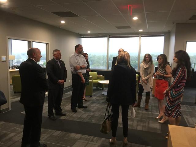 Mayor Patrick Madden tour of GreyCastle Security
