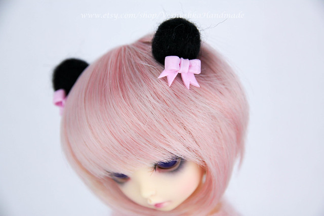 Panda ears & tail with bows