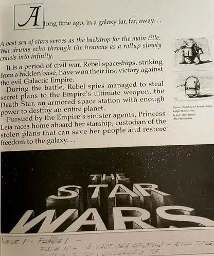 D19 of #IGWritersMay: Novel aesthetics. I make no secret that at its heart, THE SONG OF FORGOTTEN STARS is really my love letter to STAR WARS. (This is a page from the book THE ART OF STAR WARS.) #amwriting #starwars #sciencefiction #spaceopera #Forgotten