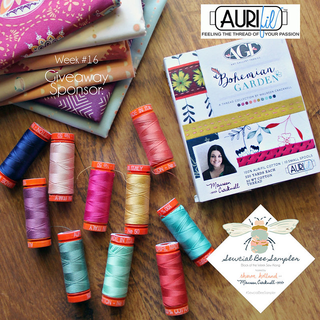 A Sewcial Bee Giveaway with Aurifil Threads!