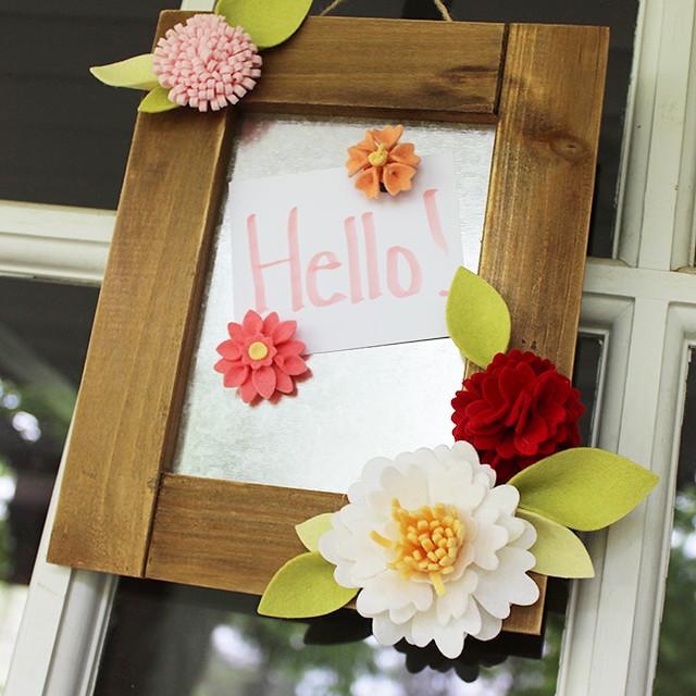 Felt Flower Magnet Board 2