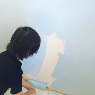 Time to paint the new house!! #James painting his new room.  #newhouse | by edmelendez