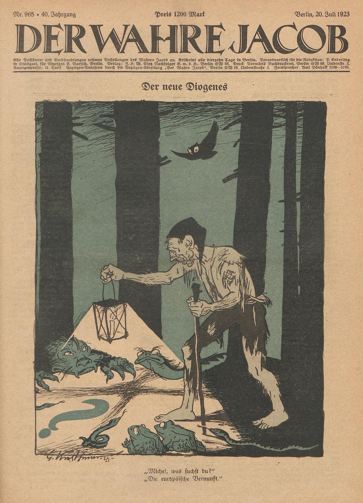 Georg Kretzschmar - The New Diogenes, 1923